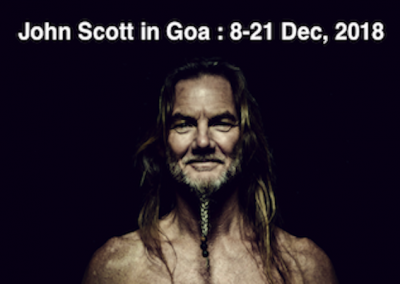 John Scott in Goa, India, 8th – 21st December, 2018