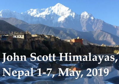 John Scott in Himalayas, Nepal, 1-7 May, 2019