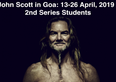 John Scott in Goa, India, 13th – 26th April, 2019