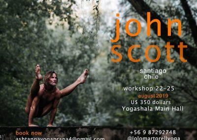 John Scott in Santiago, Chile, August 22 – 25th, 2019
