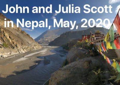 John Scott in Himalayas, Nepal, 22-29 May, 2020