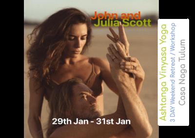 Julia and John Scott, 29-21 Jan, Casa Naga, Tulum, Mexico